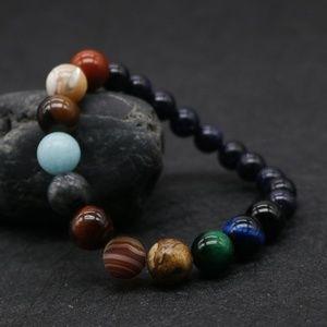 Jewelry - Unisex New Planets Bead Bracelet Natural Stone